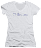 Juniors: 7th Heaven - 7th Heaven Logo V-Neck T-Shirt