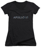 Juniors: Apollo 13 - Logo V-Neck T-Shirt