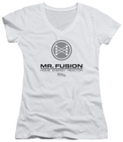 Juniors: Back To The Future II - Mr. Fusion Logo V-Neck Womens V-Necks