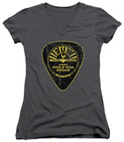 Juniors: Sun Records - Guitar Pick V-Neck T-Shirt