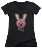 Juniors: Sucker Punch - Pink Bunny V-Neck T-Shirt