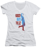 Juniors: 30 Rock - Nobody Beats The Liz V-Neck T-Shirt