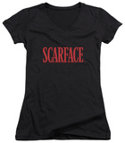 Juniors: Scarface - Logo V-Neck T-shirts