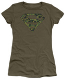 Juniors: Superman - Marine Camo Shield Shirts