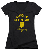 Juniors: Bad News Bears - Chico's Bail Bonds V-Neck T-shirts