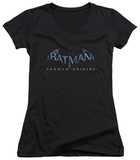 Juniors: Batman Arkham Origins - Logo V-Neck T-shirts