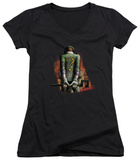 Juniors: Batman Arkham City - Riddler Convicted V-Neck T-Shirt