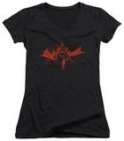 Juniors: Batman - Gotham Knight V-Neck T-Shirt