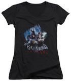 Juniors: Batman Arkham City - Joke's On You! V-Neck T-shirts