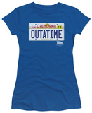 Juniors: Back To The Future - Outatime Plate T-shirts