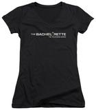 Juniors: The Bachelorette - Logo V-Neck T-shirts