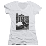 Juniors: Back To The Future II - Einstein V-Neck Womens V-Necks
