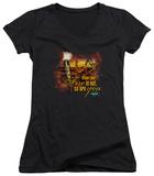 Juniors: Survivor - Fires Out V-Neck T-shirts