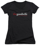 Juniors: The Good Wife - Logo V-Neck T-Shirt