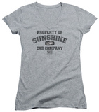 Juniors: Taxi - Property Of Sunshine Cab V-Neck T-Shirt