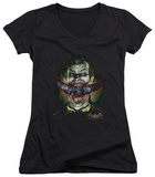 Juniors: Batman Arkham Asylum - Crazy Lips V-Neck T-shirts