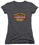Juniors: Survivor - Fiji V-Neck T-shirts