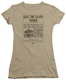 Juniors: Back To The Future - Clock Tower T-Shirt