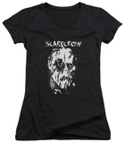 Juniors: Batman Begins - Scarecrow Face V-Neck T-shirts