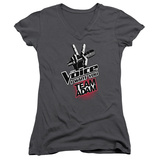 Juniors: The Voice - Team Adam V-Neck T-shirts