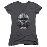 Juniors: Top Gun - Iceman Helmet V-Neck T-shirts