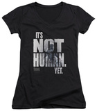 Juniors: The Thing - Not Human Yet V-Neck T-Shirt