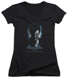 Juniors: Batman Arkham Origins - Joker V-Neck Womens V-Necks