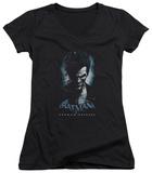 Juniors: Batman Arkham Origins - Joker V-Neck Shirts