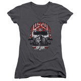 Juniors: Top Gun - Goose Helmet V-Neck Womens V-Necks