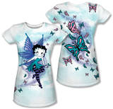 Juniors: Betty Boop - Sparkle Fairy (Front/Back Print) T-shirts