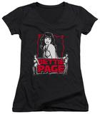 Juniors: Bettie Page - Bettie Scary Hot V-Neck Womens V-Necks