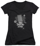 Juniors: The Twilight Zone - Monologue V-Neck T-shirts