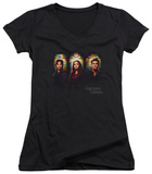 Juniors: The Vampire Diaries - Stained Windows V-Neck Shirts