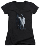 Juniors: Batman Arkham Origins - Black Mask V-Neck Womens V-Necks