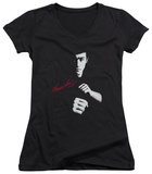 Juniors: Bruce Lee - The Dragon Awaits V-Neck T-Shirt