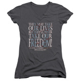 Juniors: Braveheart - Freedom V-Neck Womens V-Necks