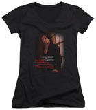 Juniors: The Vampire Diaries - Threes A Party V-Neck T-Shirt