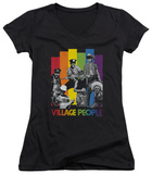 Juniors: The Village People - Equalizer V-Neck T-shirts
