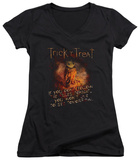 Juniors: Trick R Treat - Rules V-Neck T-Shirt