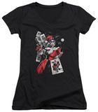 Juniors: Batman - Smoking Gun V-Neck T-shirts