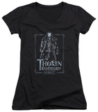Juniors: The Hobbit: An Unexpected Journey - Thorin Stare V-Neck T-shirts