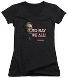 Juniors: Battlestar Galactica - So Say We All V-Neck T-shirts