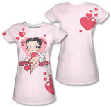 Juniors: Betty Boop - Sweetheart (Front/Back Print) Shirts
