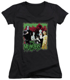 Juniors: The Munsters - Normal Family V-Neck T-Shirt