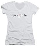 Juniors: The Middle - Logo V-Neck T-Shirt