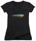 Juniors: Under The Dome - Dome Key Art V-Neck T-shirts