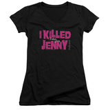 Juniors: The L Word - I Killed Jenny V-Neck Shirts