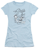 Juniors: Betty Boop - Greetings From Paris T-shirts