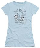 Juniors: Betty Boop - Greetings From Paris T-Shirt
