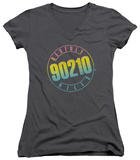 Juniors: Beverly Hills 90210 - Color Blend Logo V-Neck T-shirts